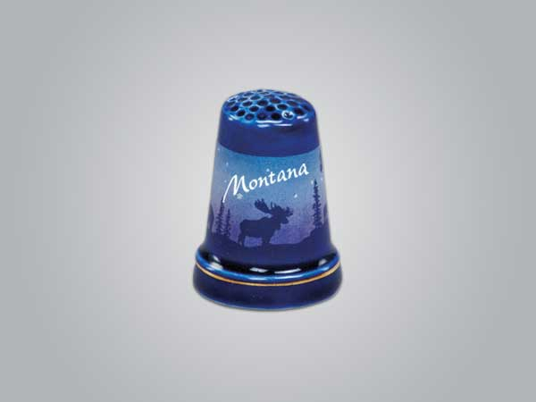 55251NY - Cobalt Moose/Forest Thimble, New York