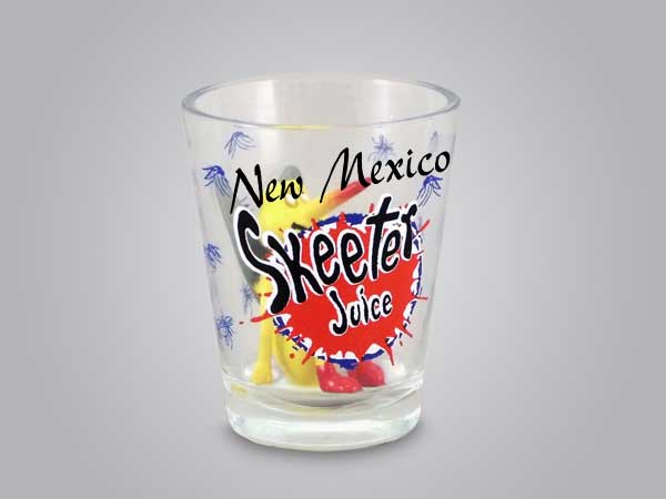 55967NM - Skeeter Juice Shot Glass, New Mexico