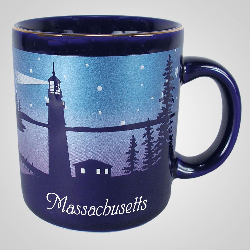 56480MA - Cobalt Nautical Mug, Massachusetts