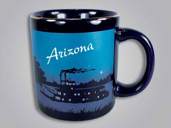 56524AZ - Cobalt Riverboat Scene mug