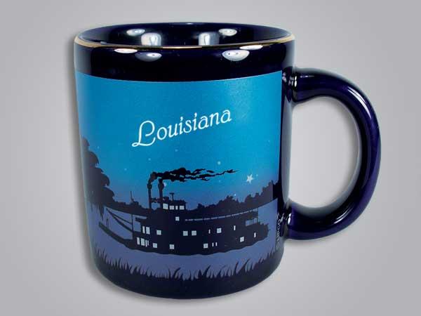 56524LA - Cobalt Riverboat Scene mug