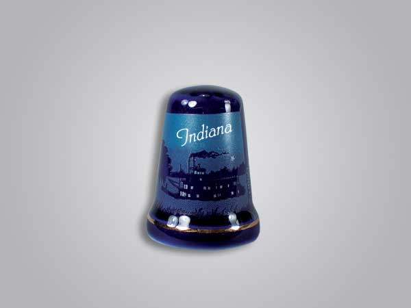 56528IN - Cobalt Riverboat Thimble, Indiana