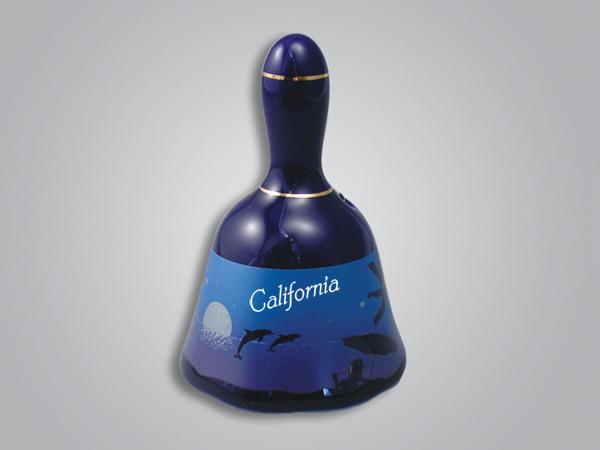 56601CA - Cobalt Beach Scene Bell - Imprinted
