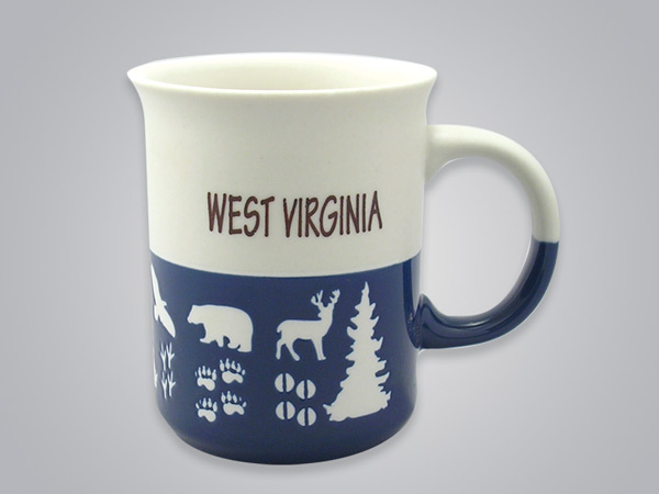 57101GSM - Wildlife Blue & White Mug, Name-drop