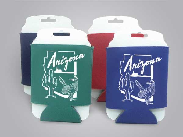 57145AZ - Folding Can Cooler, Arizona