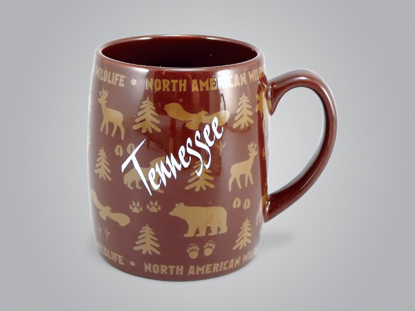 58060MUP - Wildlife Wrap Barrel Mug, Name-drop