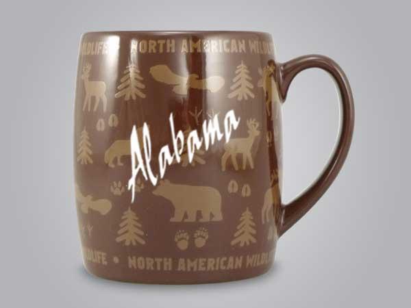 58060AL - Wildlife Wrap Barrel Mug, Name-drop