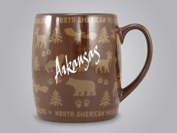 58060AR - Wildlife Wrap Barrel Mug, Name-drop