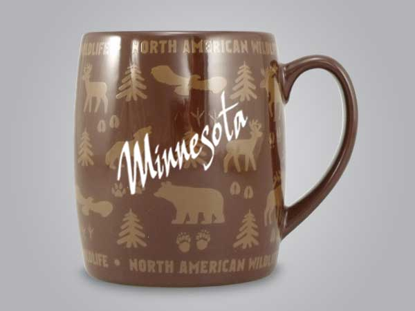 58060MN - Wildlife Wrap Barrel Mug, Name-drop