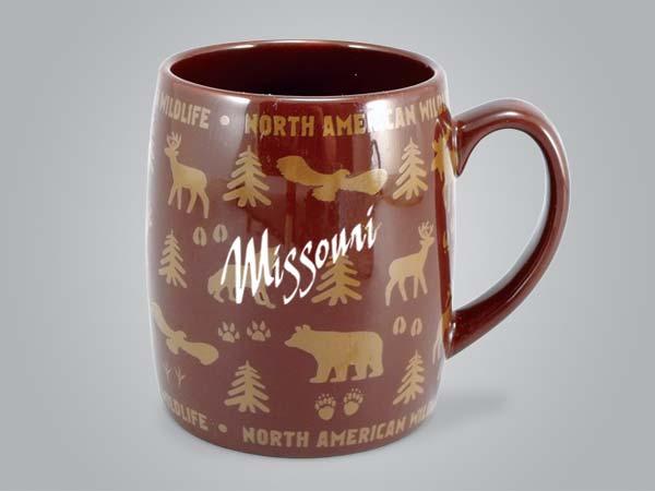 58060MO - Wildlife Wrap Barrel Mug, Name-drop