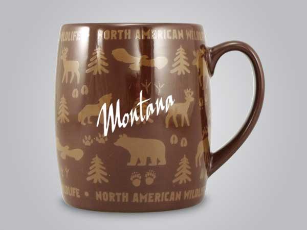 58060MT - Wildlife Wrap Barrel Mug, Name-drop