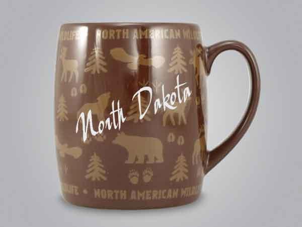 58060ND - Wildlife Wrap Barrel Mug, Name-drop