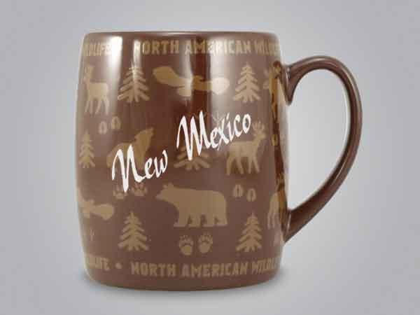 58060NM - Wildlife Wrap Barrel Mug, Name-drop