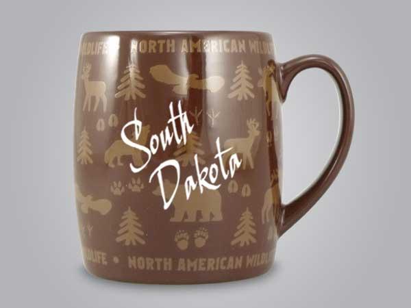 58060SD - Wildlife Wrap Barrel Mug, Name-drop