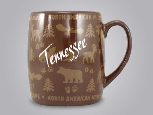 58060TN - Wildlife Wrap Barrel Mug, Name-drop