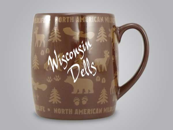 58060WD - Wildlife Wrap Barrel Mug, Name-drop