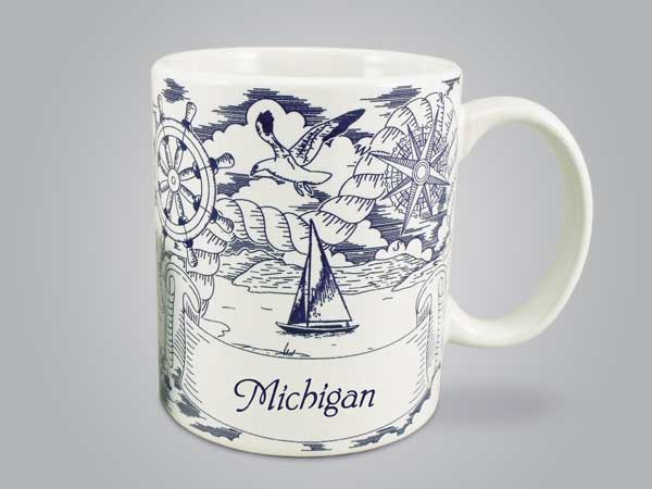 58288RI - Nautical Pencil Sketch Mug, Name-drop