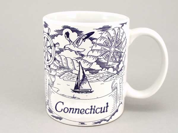 58288CT - Nautical Pencil Sketch Mug, Name-drop