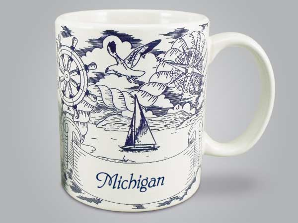58288MI - Nautical Pencil Sketch Mug, Name-drop
