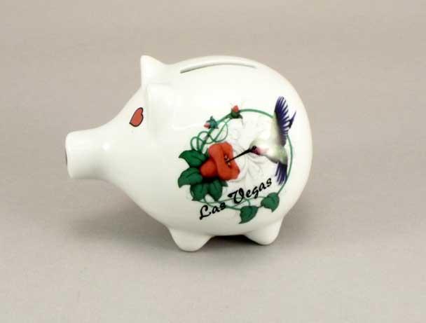 58469KS - Hummingbird Piggy Bank - Imprinted