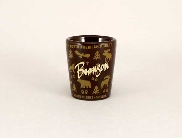 58485WV - Wildlife Wrap Ceramic Shot Glass, Name-drop
