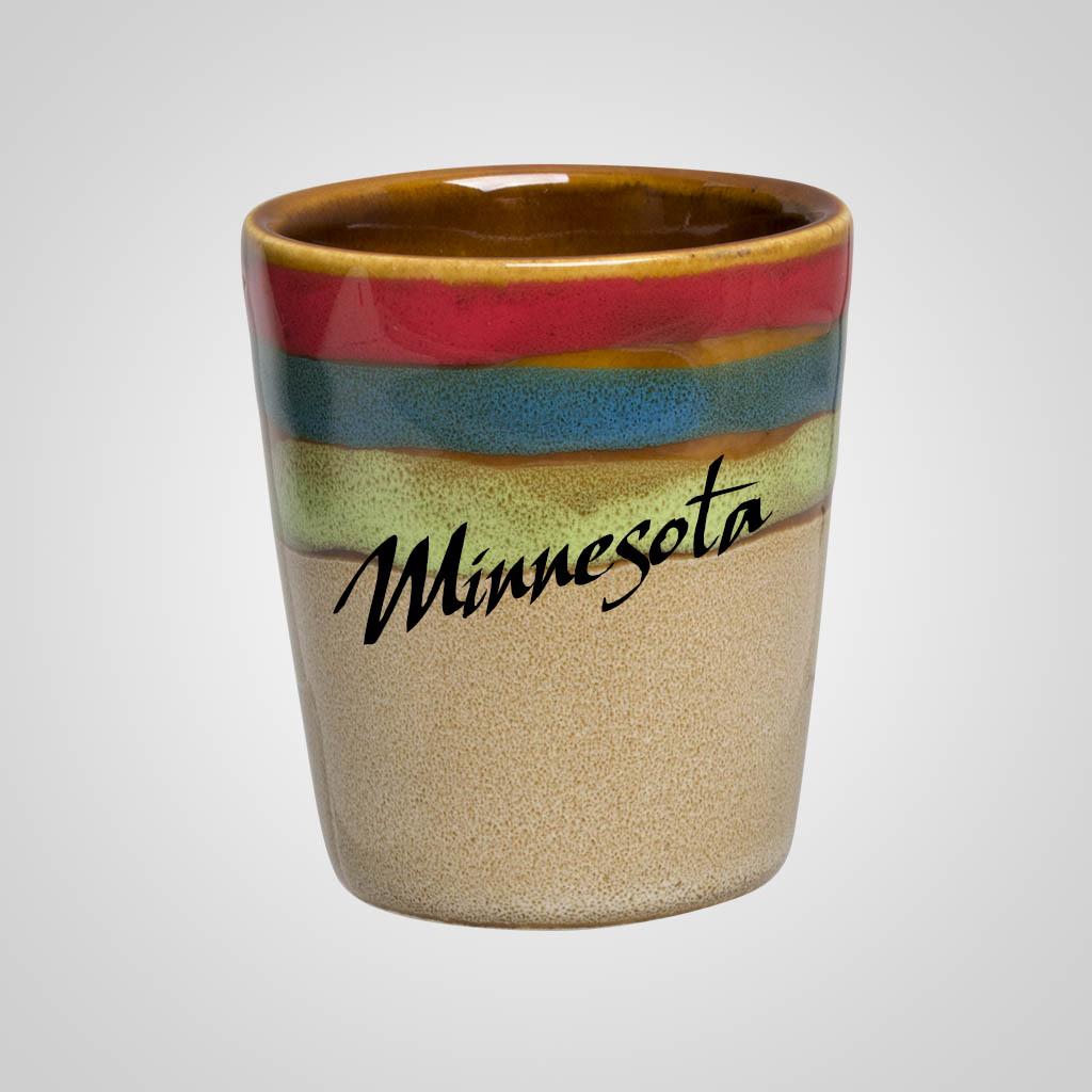 58884MN - Rainbow Top Shot Glass, Minnesota