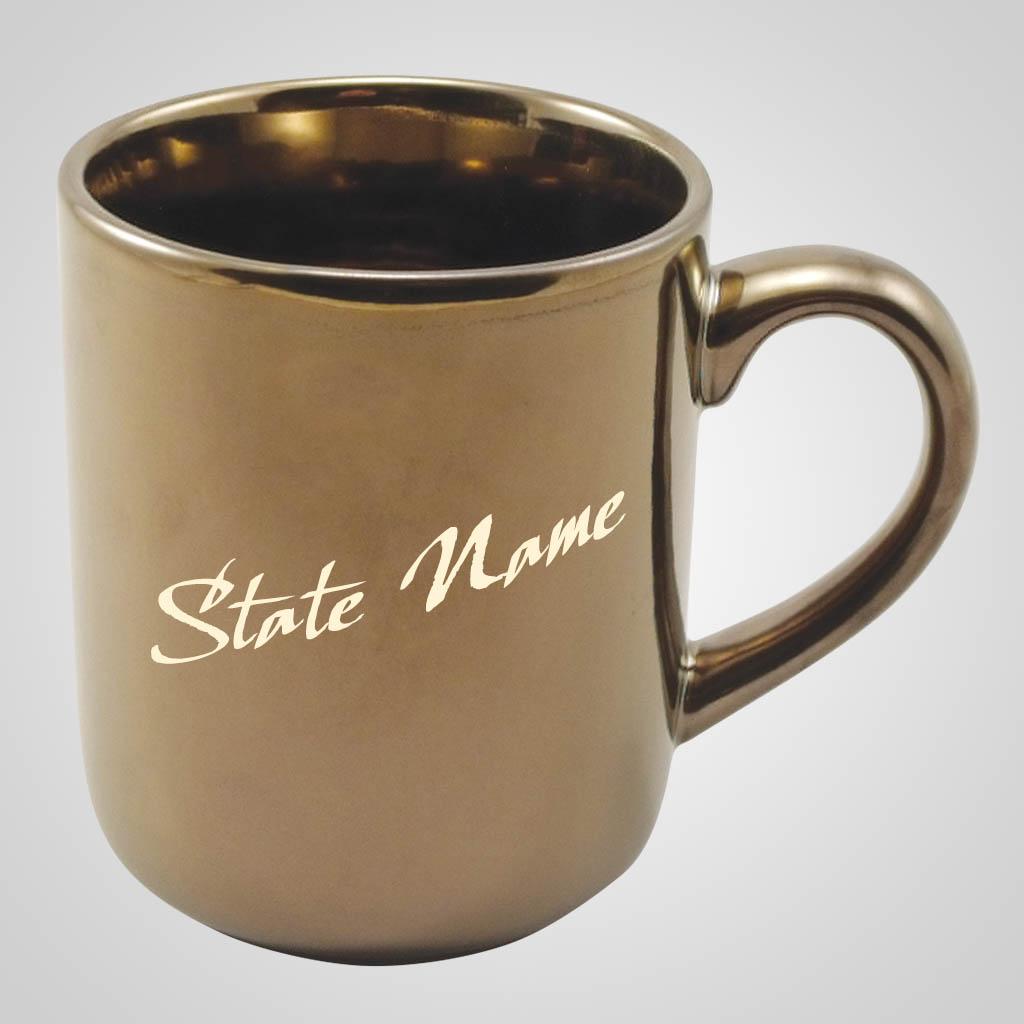 59221AL - Gold Glaze Mug, Alabama