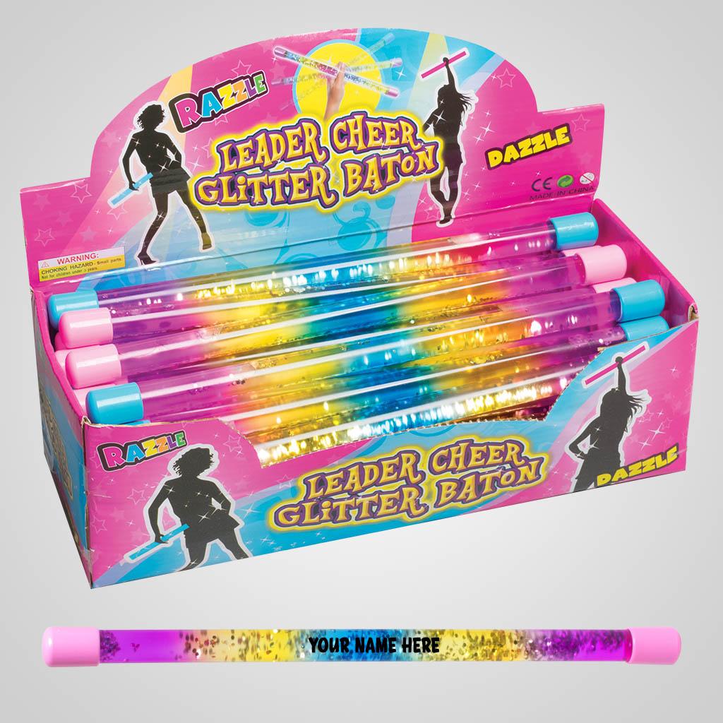 63429IM - Cheerleader Glitter Baton, Name-Drop