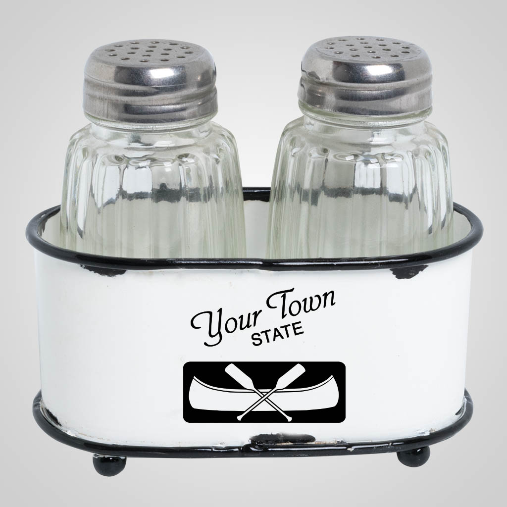 63507PP - Enamel Basket Salt & Pepper, 1 Color Print