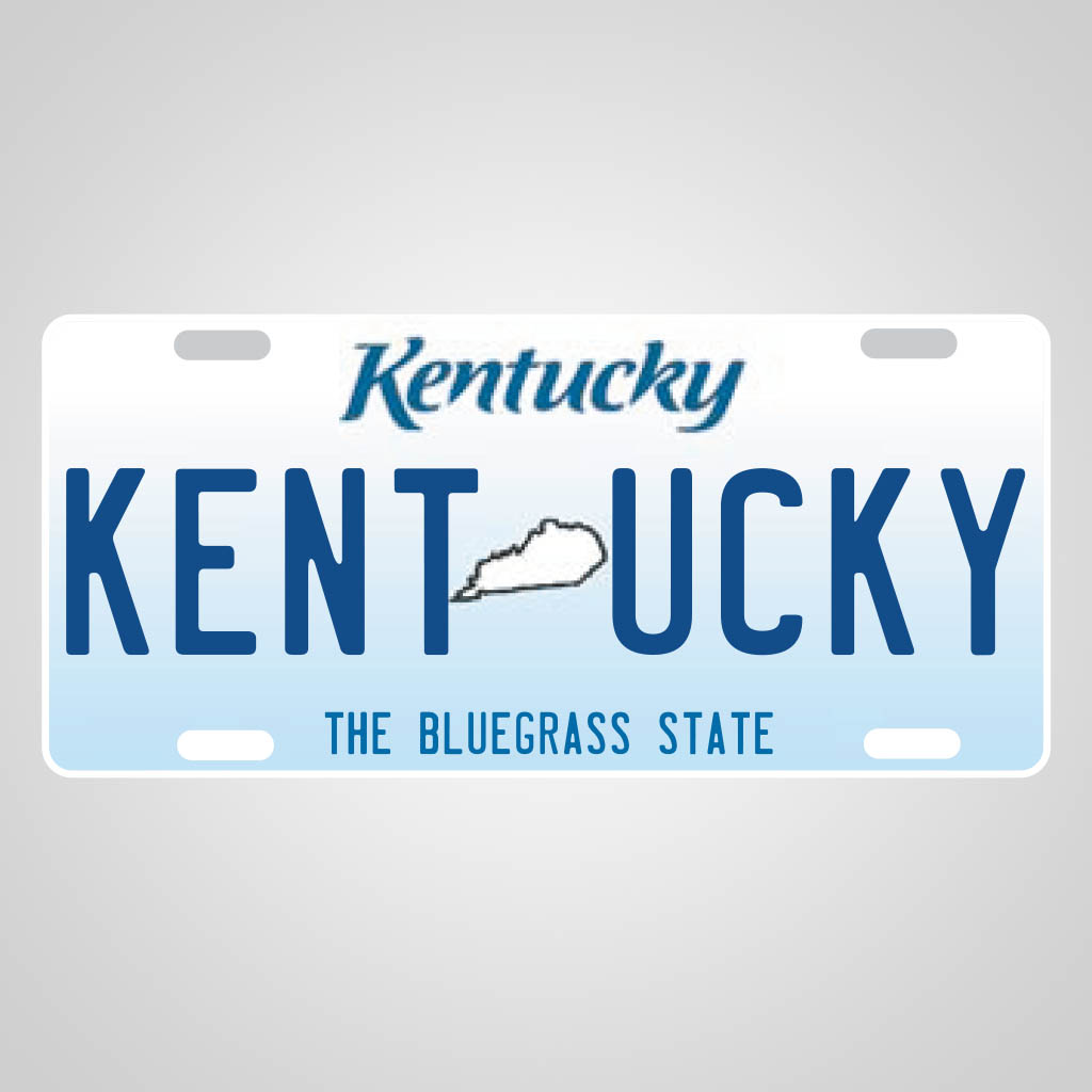 JMS00134 - Kentucky License Plate multi color jet print design