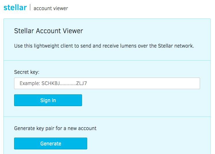 stellar account viewer