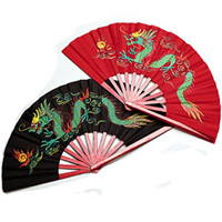 Bamboo Dragon Fighting Fans