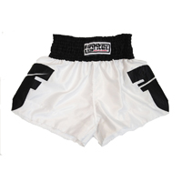 Fighter Thai Trunks - White/Black