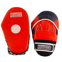 Fighter Leather Long Focus Mitts - Red