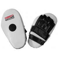 Fighter Leather Long Focus Mitts - White