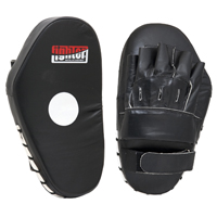 Fighter Leather Long Focus Mitts - Black