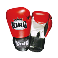 King Professional Boxing Gloves - Velcro - 3-Colors
