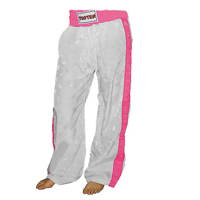 Top Ten Kickboxing Pants - White/Pink