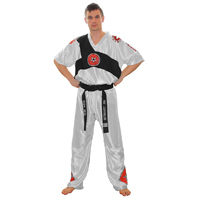 Top Ten Elite Fight Uniform - White/Black