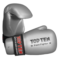 Top Ten Pointstop Open Hands Gloves - Silver