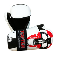 Top Ten Point Fighter Gloves - Skull