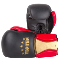 Top Ten Boxing Gloves - Sparring Elite - Black/Red