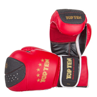 Top Ten Boxing Gloves - Sparring Elite - Red/Black