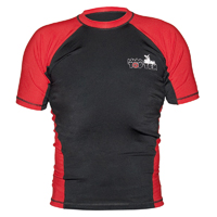 Top Ten MMA Short Sleeve Rash Guard - Black/Red