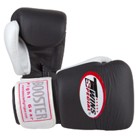 Twins Boxing Gloves - Black White Thumb