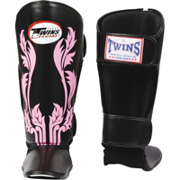 Twins Wide Shin Instep Guards - Black/Pink