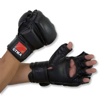 GTMA Padded Leather Grappling Gloves