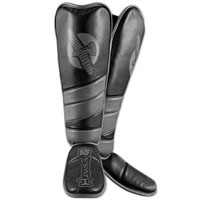 Hayabusa Tokushu Regenesis Grappling Shinguard - Black / Grey