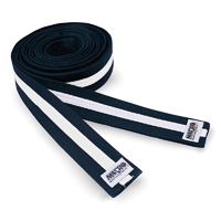 Macho Deluxe 2in Black Belt w/ White Stripe