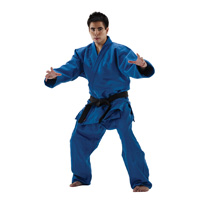 Macho 100% Cotton Single Weave Judo/ Jiu-Jitsu Uniform - Blue